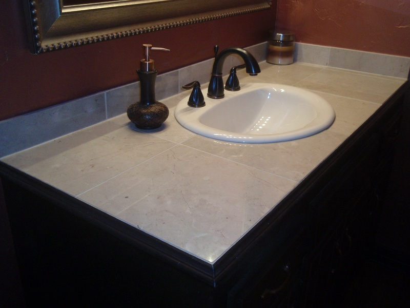 custom tile vanity top fresh ideas home improvement